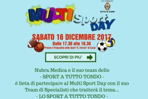 Nubra Medica e il suo team dello- SPORT A TUTTO TONDO -è lieta di partecipare al Multi Sport Day con il suo Team di Specialisti che tratterà il tema...-5