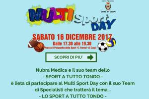 Nubra Medica e il suo team dello- SPORT A TUTTO TONDO -è lieta di partecipare al Multi Sport Day con il suo Team di Specialisti che tratterà il tema...-7