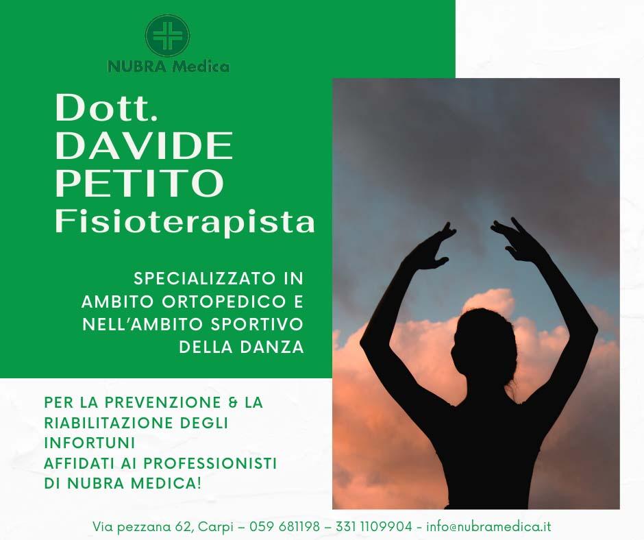 DOTT. DAVIDE PETITO – FISIOTERAPISTA